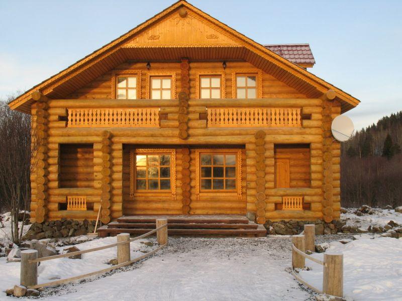 фото рубленый дом